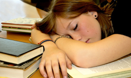 passed-out-studying