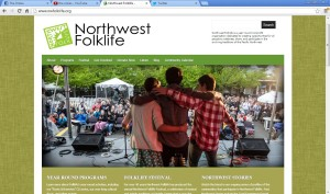 Northwest Folklife home page, June 3, 2013