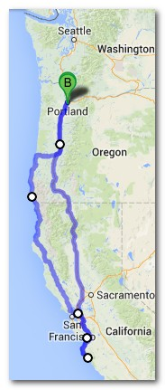 Road tip: The Onlies' 2013 West Coast Tour itinerary.