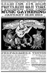 Portland Old-Time Music Gathering poster